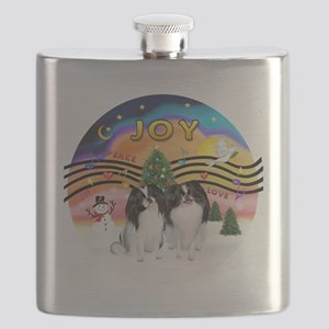 XMusic2-Two Jap Chins Flask