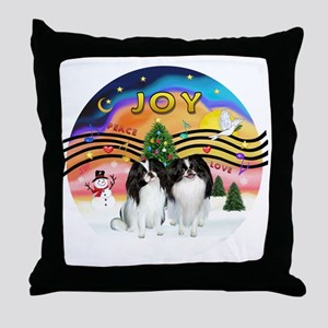 XMusic2-Two Jap Chins Throw Pillow