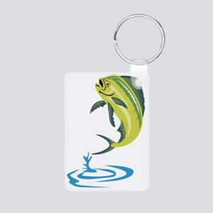 Dorado Dolphin Fish Mahi-m Aluminum Photo Keychain
