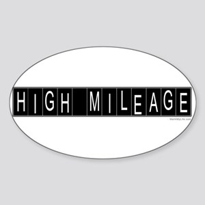 High Mileage Oval Sticker