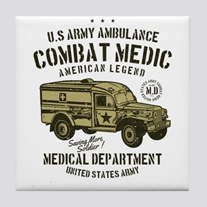 US Army Ambulance Tile Coaster