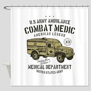 US Army Ambulance Shower Curtain