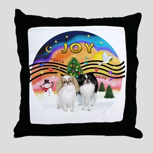 Music2-2Jap Chins (Lem+BW) Throw Pillow