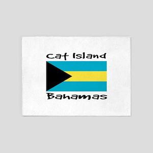 Cat Island Bahamas 5'x7'Area Rug