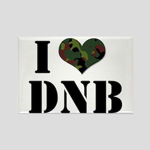 I Heart Drum & Bass Rectangle Magnet