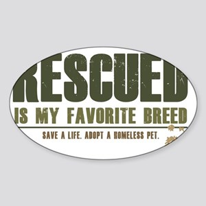Rescue Pets Sticker (Oval)