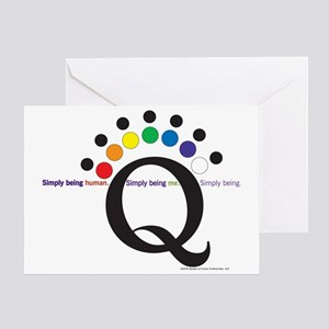 Simply being Q Greeting Card