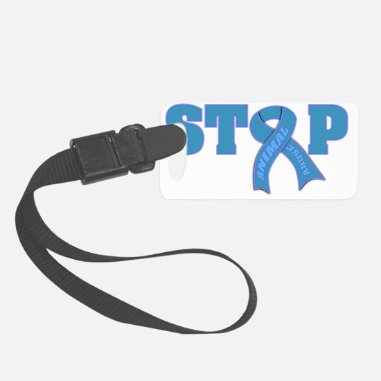 STOP Animal Abuse Ribbon Luggage Tag