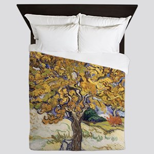 Mulberry Tree by Vincent Van Gogh Queen Duvet