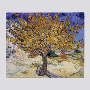 Mulberry Tree by Vincent Van Gogh Throw Blanket