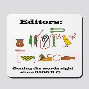 Editors in History Mousepad