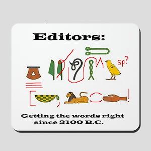 Editors in History Mousepad