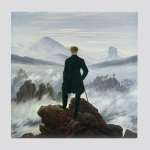 The Wanderer above the Sea of Fog by  Tile Coaster
