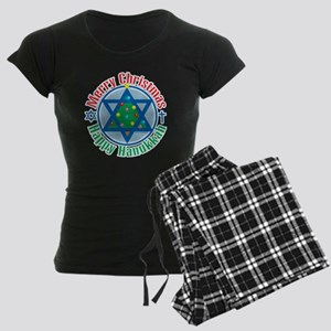 Christmas-Hanukkah Women's Dark Pajamas