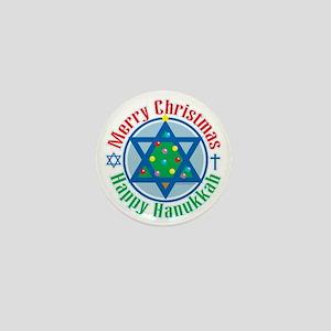Christmas-Hanukkah Mini Button