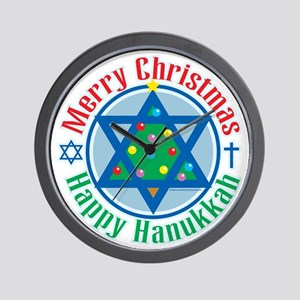 Christmas-Hanukkah Wall Clock
