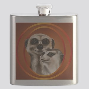 Meerkat Couple-circle Flask