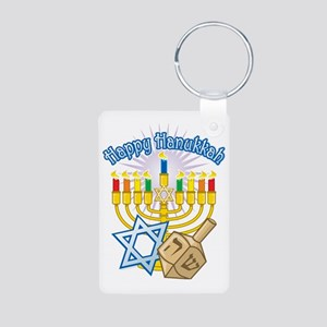 Hanukkah Aluminum Photo Keychain