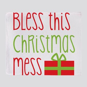 Bless this Christmas MESS! with gift Throw Blanket