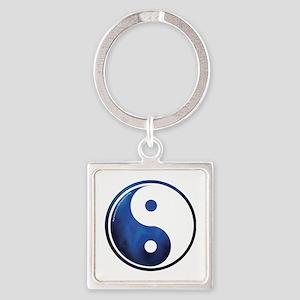 Taoism-2009-blk Square Keychain