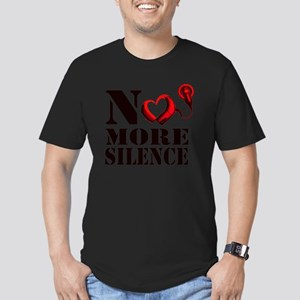 No More Silence Men's Fitted T-Shirt (dark)