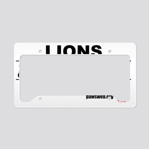 LionsCircusTRANS copy License Plate Holder