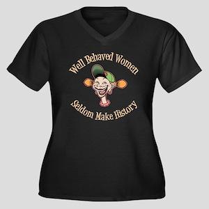goofy-girl-w Women's Plus Size Dark V-Neck T-Shirt