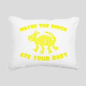 dingo_with_text_yelo Rectangular Canvas Pillow