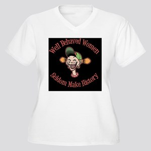 goofy-girl-well-b Women's Plus Size V-Neck T-Shirt