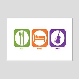 Eat Sleep Bass Mini Poster Print