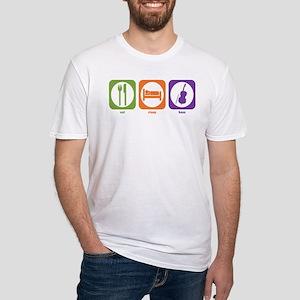 Eat Sleep Bass Fitted T-Shirt