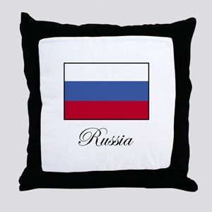 Russia - Russian Flag Throw Pillow