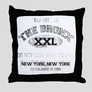bronx dark Throw Pillow