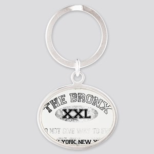 bronx dark Oval Keychain