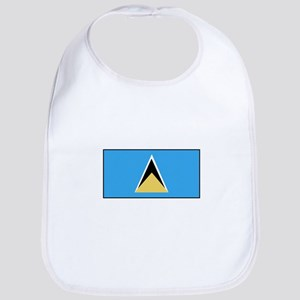 St. Lucia Flag Bib
