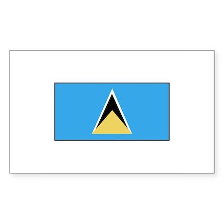 St. Lucia Flag Rectangle Sticker