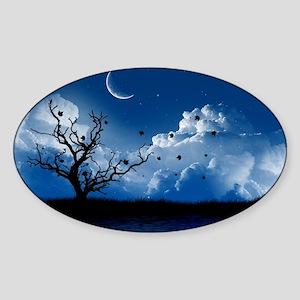 bluemoonlake_miniposter_12x18_fullb Sticker (Oval)