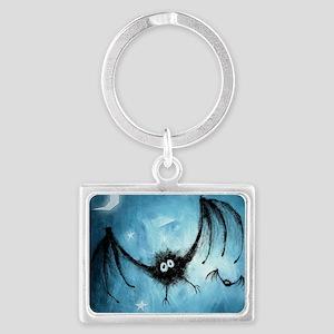 bat_blue_miniposter_12x18_fullb Landscape Keychain