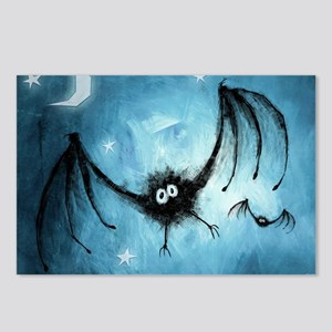 bat_blue_miniposter_12x18 Postcards (Package of 8)