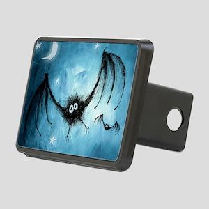 bat_blue_miniposter_12x18_ Rectangular Hitch Cover