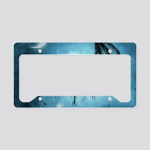 bat_blue_miniposter_12x18_ful License Plate Holder