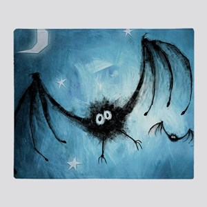 bat_blue_miniposter_12x18_fullbleed Throw Blanket