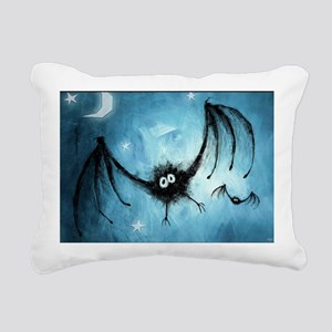 bat_blue_miniposter_12x1 Rectangular Canvas Pillow