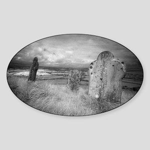 gravehill_miniposter_12x18_fullblee Sticker (Oval)