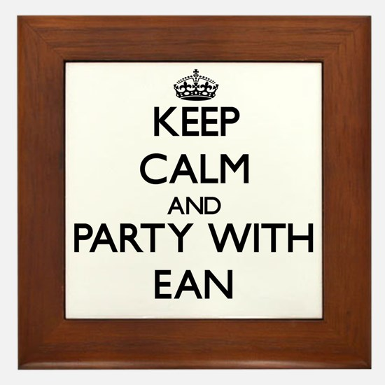 Keep Calm and Party with Ean Framed Tile