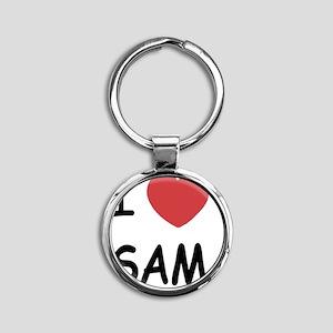 SAM Round Keychain