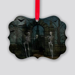 graveyardmeeting_miniposter_12x18 Picture Ornament