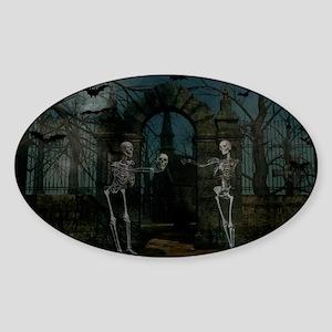 graveyardmeeting_miniposter_12x18_f Sticker (Oval)