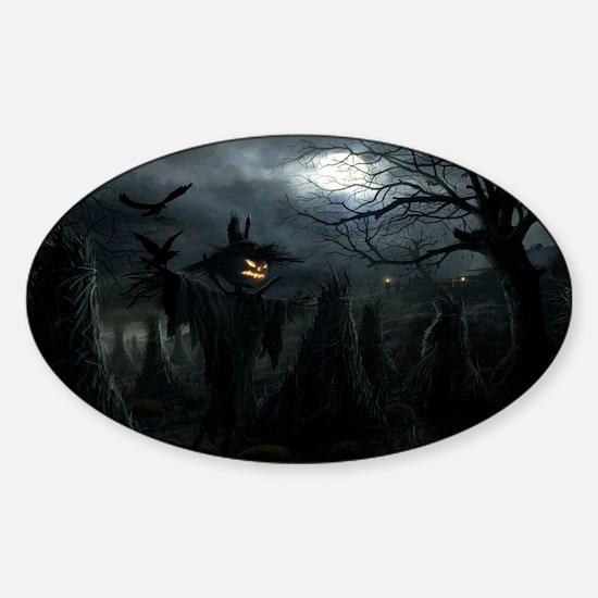 midnightscarecrow_miniposter_12x18_ Sticker (Oval)