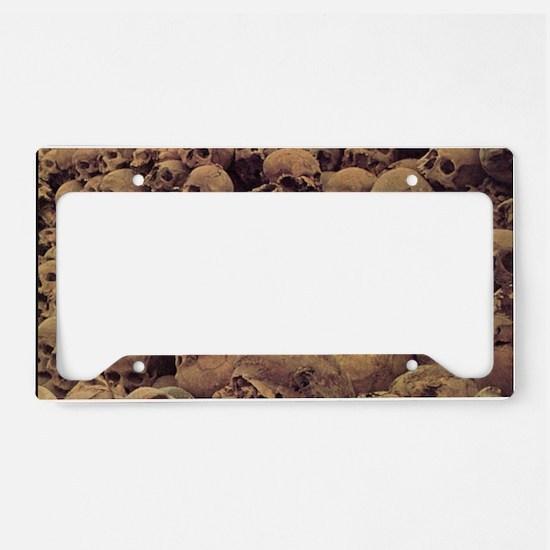 pileofskulls_miniposter_12x18 License Plate Holder